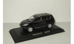 Пежо Peugeot 4007 Черный 2007 4x4 4WD Norev 1:43 474070, масштабная модель, 1/43