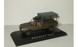 Пежо Peugeot 504 Pick-up 4x4 1979 Army Norev 1:43 475454, масштабная модель, 1/43