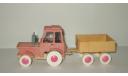 Игрушка трактор МТЗ Беларусь + прицеп Тип 2 Cделано в СССР 1:43, масштабная модель, 1:32, 1/32