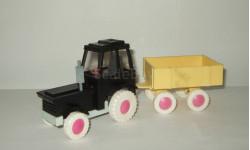 Игрушка трактор МТЗ Беларусь + прицеп Тип 3 Cделано в СССР 1:43, масштабная модель, 1:32, 1/32
