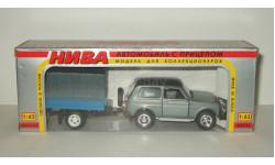 Ваз 21213 Нива Жигули Lada Niva 4x4 + прицеп 1995 Агат Тантал Радон 1:43 БЕСПЛАТНАЯ доставка, масштабная модель, scale43, Агат/Моссар/Тантал