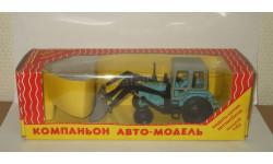 трактор Беларусь МТЗ 82 с ковшом СССР Компаньон 1:43, масштабная модель, 1/43