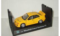 Мицубиси Mitsubishi Lancer Evo VI Evolution 1999 Cararama Hongwell 1:43 Ранний Открываются двери, масштабная модель, Bauer/Cararama/Hongwell, scale43