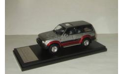 Тойота Toyota LAND CRUISER 80 Turbo 4WD VX-LTD 1989 Silver/Red Hi Story 1:43 HS124AT, масштабная модель, 1/43, Hi-Story