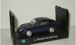 Порше Porsche 911 Soft Top 1999 Cararama Hongwell 1:43 Ранний Открываются двери, масштабная модель, Bauer/Cararama/Hongwell, scale43