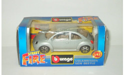 Фольксваген VW Volkswagen New Beetle 1999 Bburago 1:43, масштабная модель, scale43