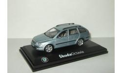 Шкода Skoda Octavia II Combi 2004 Светло-голубой Металлик Abrex 1:43
