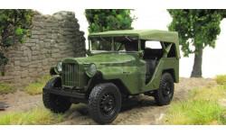 Газ 64 с тентом 4х4 зеленый-матовый 1941 СССР Великая Отечественная война НАП Наш Автопром 1:43