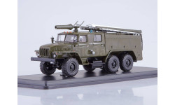 Урал 4320 6х6 АЦ 40 43202 ПМ 102Б (хаки) Пожарный 1988 СССР SSM 1:43 SSM1233, масштабная модель, 1/43, Start Scale Models (SSM)