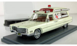 Кадиллак Скорая помощь Cadillac S&S Ambulance White 1966 Neo 1:43 NEO43895, масштабная модель, 1/43, Neo Scale Models