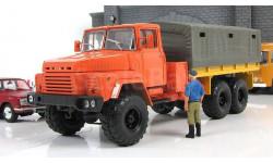 КрАЗ 260 бортовой с тентом 1979 оранжевый СССР НАП Наш Автопром 1:43 H290or, масштабная модель, scale43