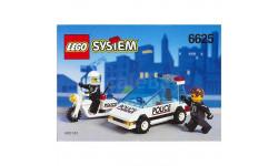 набор Конструктор Лего Полицейская машина и мотоциклист Police Lego 6625 1995 год Раритет 100 % Оригинал, масштабная модель, scale43