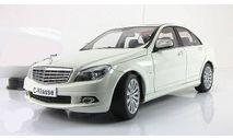 Мерседес Mercedes Benz C-class W204 2007 седан Белый Autoart 1:18 76262 БЕСПЛАТНАЯ доставка, масштабная модель, 1/18, Mercedes-Benz