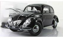 Фольксваген VW Volkswagen Beetle Kafer 1955 black AutoArt 1:18 79776, масштабная модель, 1/18