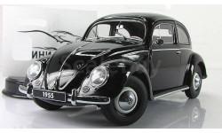 Фольксваген Volkswagen Beetle Kafer 1955 black AutoArt 79776 1:18, масштабная модель, 1/18