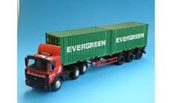МАЗ-6422 с полуприцепом-контейнеровозом МАЗ-938920, масштабная модель, SSM+Автоистория, scale43