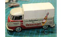 Schuco VW bus  , реклама Henninger, масштабная модель, Volkswagen, 1:43, 1/43
