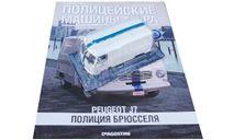 Полицейские машины мира №66 Peugeot J7 Полиция Брюсселя, журнальная серия Полицейские машины мира (DeAgostini), 1:43, 1/43