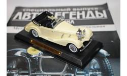 Авто легенды 20-го века.  MERCEDES 540 K1938, журнальная серия масштабных моделей, 1:43, 1/43, Solido