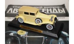 Авто легенды 20-го века.  CORD L 29 berline 1929, журнальная серия масштабных моделей, 1:43, 1/43, Solido