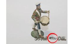 Оловянный  солдатик 54 мм . Русский барабанщик, фигурка, 1:32, 1/32, Ручная работа