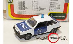 Автомобили России ВАЗ-2108 ОВО, масштабная модель, 1:43, 1/43, Агат/Моссар/Тантал