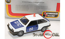 Автомобили России ВАЗ-2108 ДПС , красная люстра, масштабная модель, 1:43, 1/43, Агат/Моссар/Тантал