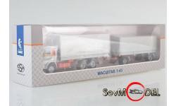Бесплатная доставка! КАМАЗ-53212 с прицепом ГКБ-8350, белый, масштабная модель, Start Scale Models (SSM), 1:43, 1/43