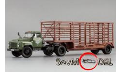 DIP Models ГАЗ-52-06 тягач 'Мосторгтранс' и полуприцеп-таровоз , зелёный, масштабная модель, scale43