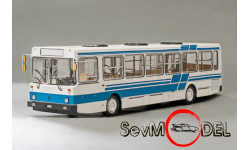 ClassicBus лиАз-5256 бело-синий, масштабная модель, 1:43, 1/43