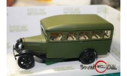 Бесплатная доставка! Наш Автопром  Газ-03-30  Автобус матовый зелёный, масштабная модель, scale43