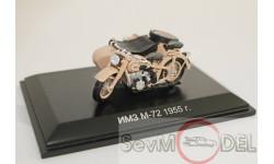 ММЗ/ИМЗ М-72 1955 г. с коляской, масштабная модель мотоцикла, DiP Models, 1:43, 1/43