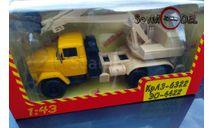 Наш автопром Экскаватор Краз-6322 ЭО жёлтый бежевый, масштабная модель, 1:43, 1/43