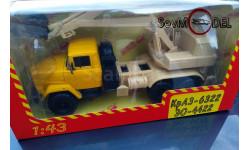 Наш автопром Экскаватор Краз-6322 ЭО жёлтый бежевый