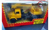 Наш автопром Экскаватор Краз-6322 ЭО жёлтый, масштабная модель, scale43