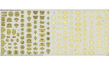 Бесплатная доставка ! Декаль эмблемы автобаз №3  1/43, фототравление, декали, краски, материалы, 1:43