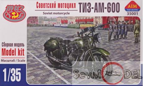 AIM 1/35 Советский мотоцикл ТИЗ АМ-600, сборная модель мотоцикла, 1:35