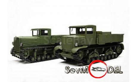 Тягач Ворошиловец + тягач Коминтерн, серия 'ДорМаш', масштабная модель трактора, scale43