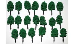 Деревья для жд макетов 20 шт. одним лотом
