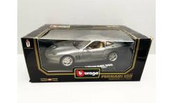 1/18 Bburago Ferrari Maranello 550 цвет платина Италия 1997г, масштабная модель, scale18