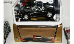 1/18  Bburago BMW M Roadster в черном цвете, Италия 1998 год, масштабная модель, 1:18