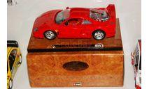 1/18 Bburago Ferrari f40 на подиуме Италия 1990-97г ПОЛНЫЙ КОМПЛЕКТ С КОРОБКОЙ, масштабная модель, scale18