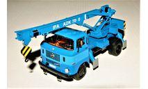 IFA W50 L ADK-70-0 (4x2) Kranwagen 1965 blue, масштабная модель, IFA (made in DDR), IXO Special C, scale43