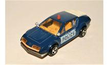 1/55 Majorette Renault Alpine A310 POLICE 1971 blue metallic, France, масштабная модель, Majorette (made in France)