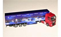 MAN TGX 18.480 (4X2) Weihnachtstruck 2015 dark red met./dark blue, масштабная модель, HERPA Miniaturmodelle, scale87
