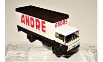 DAF A2600 (4x2) Koffer-Truck ANDRE 1970 brown/white Holland, масштабная модель, IXO Special C, scale43