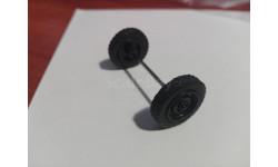 Колёса с осью УАЗ от Deagostini, масштабная модель, 1:43, 1/43, Автомобиль на службе, журнал от Deagostini
