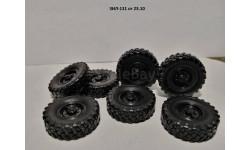Колёса в сборе ЗИЛ-131 к-т 7 шт., запчасти для масштабных моделей, AVD Models, 1:43, 1/43