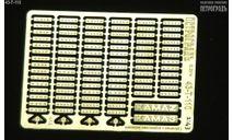 Набор шильдиков с индексами для моделей КамАЗ, фототравление, декали, краски, материалы, Петроградъ и S&B, scale43