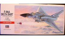 перехватчик F-106A Delta Dart 1:72 Hasegawa, сборные модели авиации, scale72